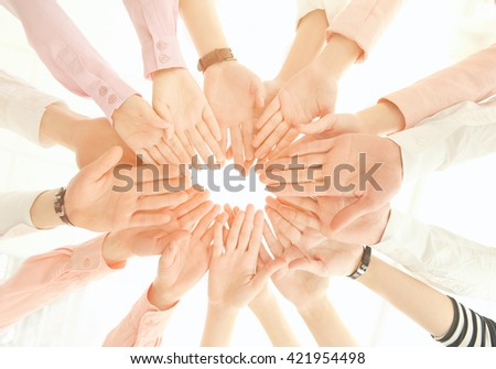 Business people hands. Teamwork concept.
