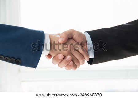 business people handshaking - stock photo