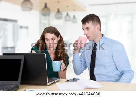 Business people Having Meeting Around Table In Office - stock photo