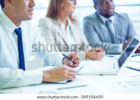 Business people having meeting at the office - stock photo