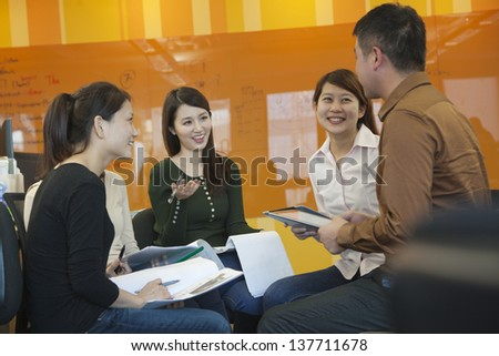 Business People Having Meeting in the Office - stock photo
