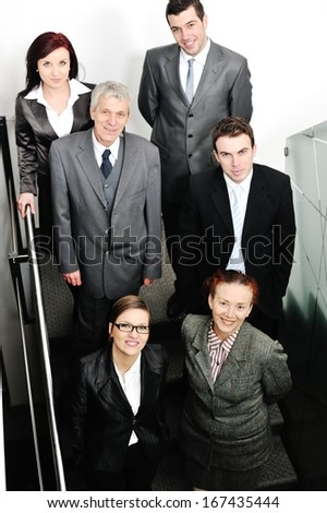 Business people having working meeting at office - stock photo
