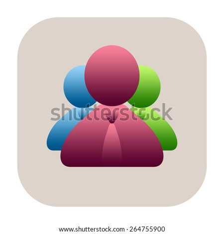 Business people icon - stock photo
