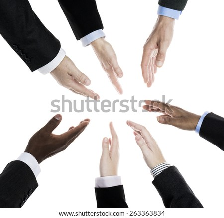 Business people in agreement - stock photo