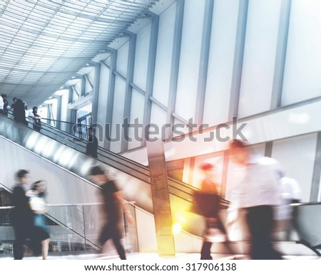 Business People in Asia Hong Kong Walking Concept - stock photo