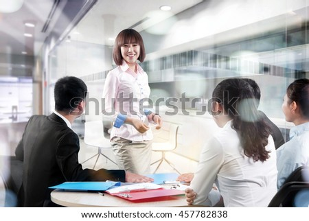 Business people in office meeting to discuss