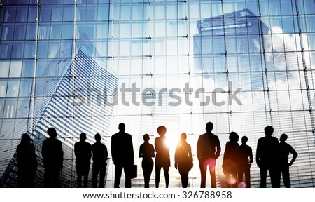 Business People Inspiration Goals Mission Growth Success Concept - stock photo
