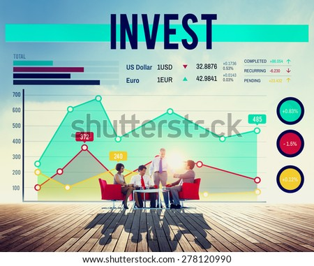 Business People Invest Graph Concept - stock photo