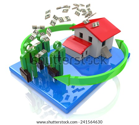 business people invest in real estate  - stock photo