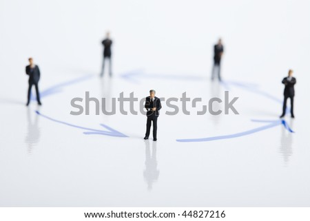 Business people isolated on white background