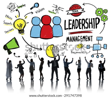 Business People Leadership Management Cheerful Celebration Success Concept - stock photo
