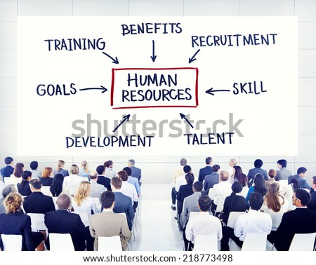Business People Learning About Human Resources - stock photo