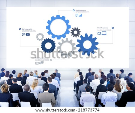 Business People Learning About Teamwork - stock photo