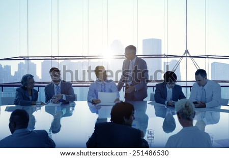 Business People Meeting Cityscape Team Concept - stock photo