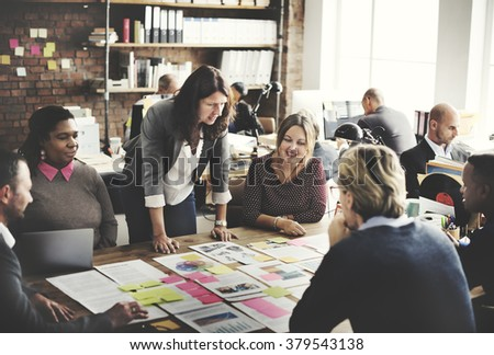 Business People Meeting Conference Discussion Working Concept - stock photo