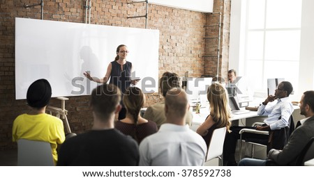 Business People Meeting Conference Seminar Concept - stock photo