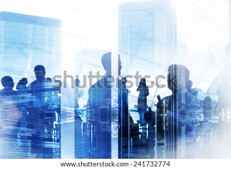 Business People Meeting Conference Seminar Sharing Strategy Concept - stock photo