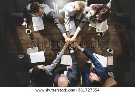 Business People Meeting Corporate Connection Togetherness Concept
