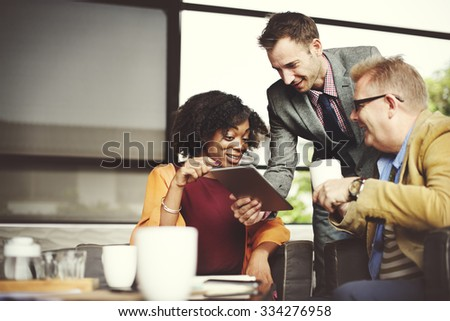 Business People Meeting Corporate Digital Tablet Technology Concept - stock photo