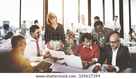 Business People Meeting Corporate Friendship Teamwork Concept - stock photo