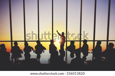 Business People Meeting Corporate Vision Strategy Concept - stock photo