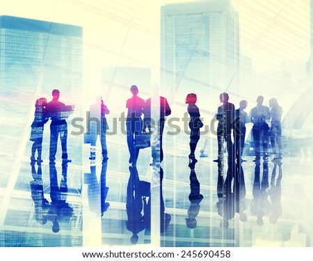 Business People Meeting Discussion Brainstorming Conversation Concept - stock photo