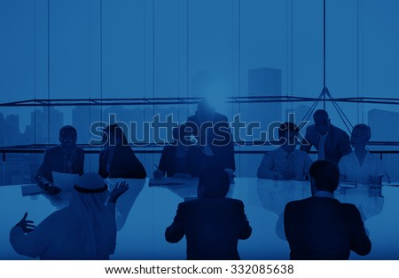 Business People Meeting Discussion Corporate Concept