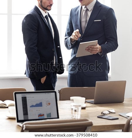 Business People Meeting Discussion Working Office Concept - stock photo