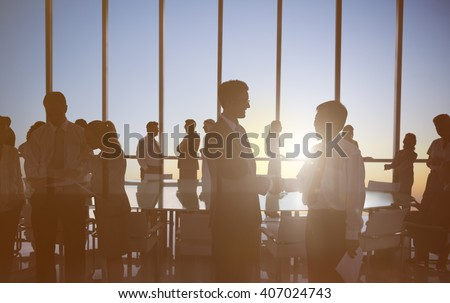 Business People Meeting Greeting Agreement Handshake Concept