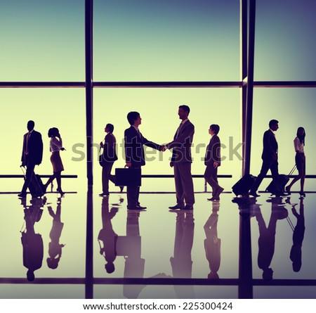 Business People Meeting Handshake Concept - stock photo