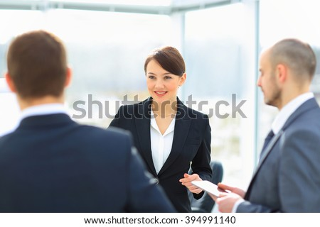 Business people Meeting In Modern Office - stock photo