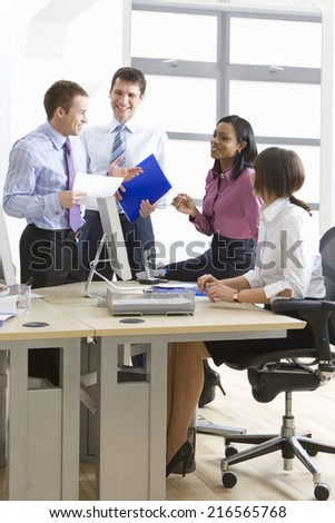 Business people meeting in office - stock photo