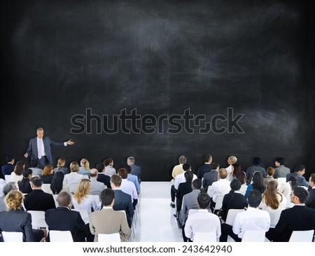 Business People Meeting Leader Speaker Teamwork Concept - stock photo