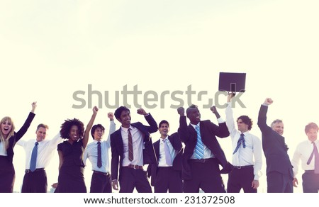 Business People New York Celebration Concept - stock photo