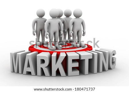 Business people on target market