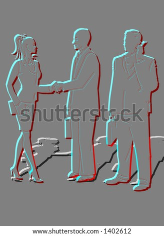 BUSINESS PEOPLE PARTNERSHIP - stock photo
