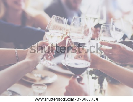 Business People Party Celebration Success Concept - stock photo