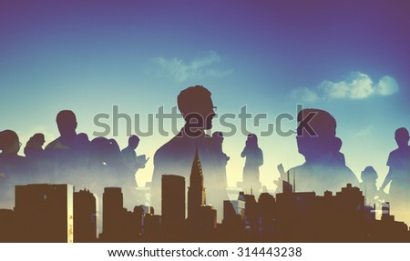 Business People Professional Team Discussion Concept - stock photo