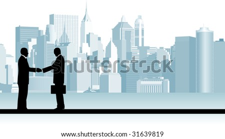 Business People. Raster version of vector illustration. - stock photo