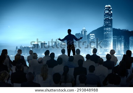 Business People Seminar Conference Meeting CIty Training Concept - stock photo