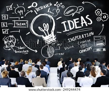 Business People Seminar Creativity Growth Success Innovation Concept - stock photo