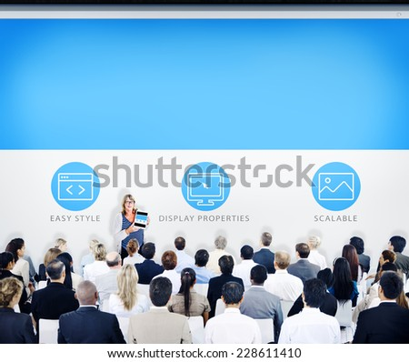 Business People Seminar Learning Concept - stock photo