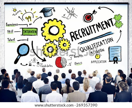 Business People Seminar Recruitment Presentation Concept - stock photo