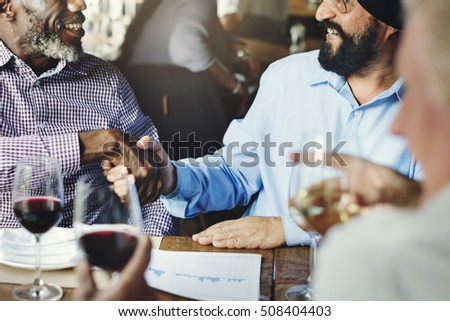 Business People Shaking Hands Agreement Concept