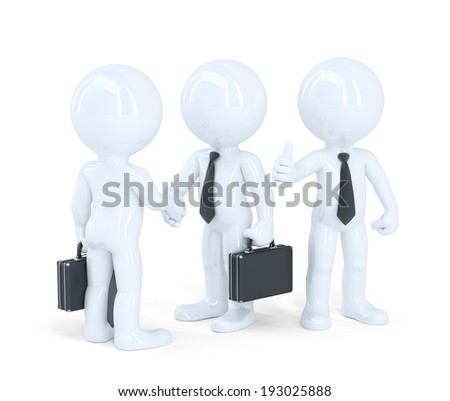 Business people shaking hands. Isolated. Contains clipping path - stock photo