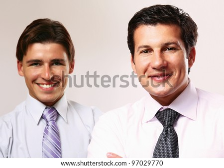 business people standing on a white background - stock photo
