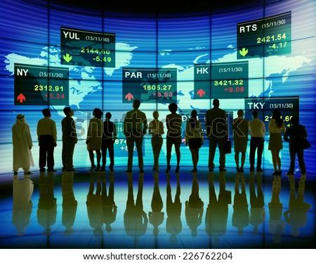 Business People Stock Exchange Finance Global Concept - stock photo