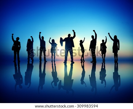Business People  Succesful Celebrating Winning Concept - stock photo