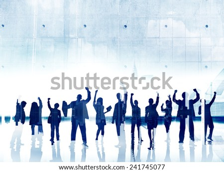 Business People Success Achievement Celebration Winning Happiness Concept