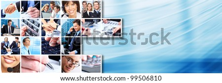 Business people team collage. Teamwork. Business society. - stock photo